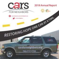 Cars for Neighbors 2018 Annual Report